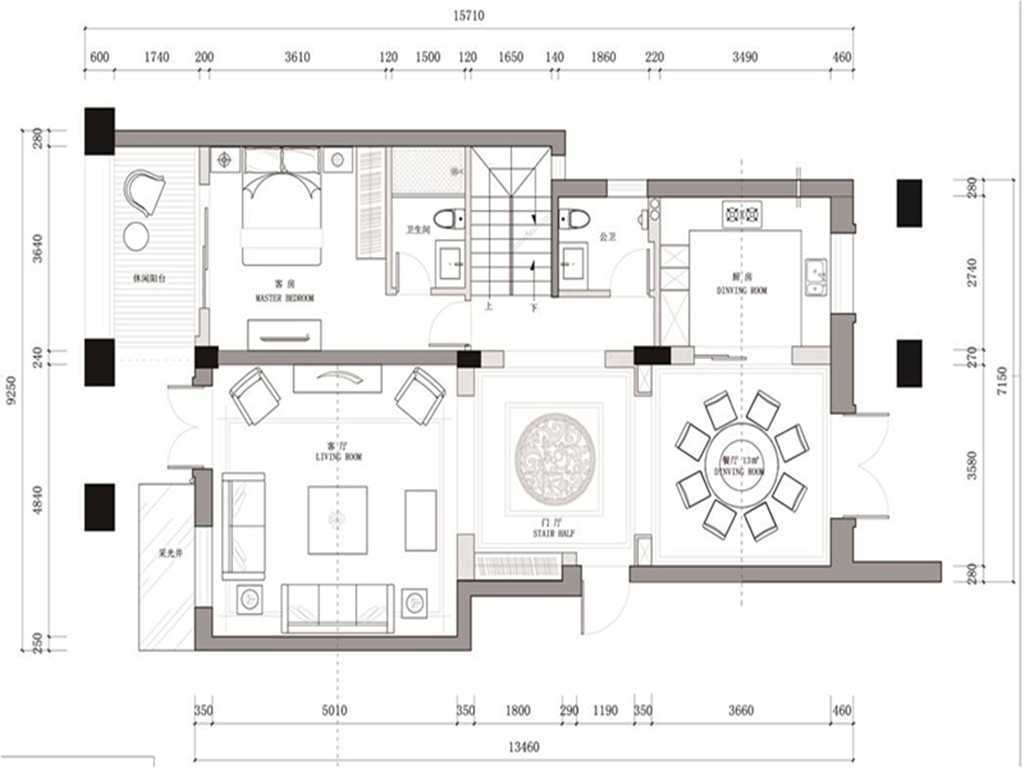 紫金豪庭墅装修设计理念