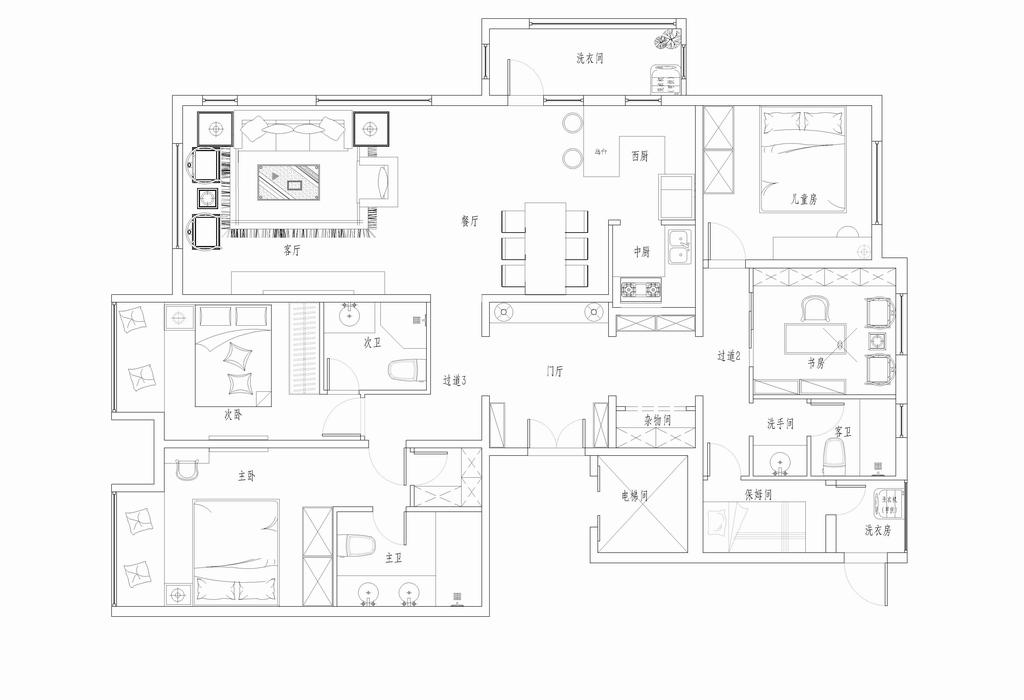 艾力枫社-北欧现代-200平米装修设计理念