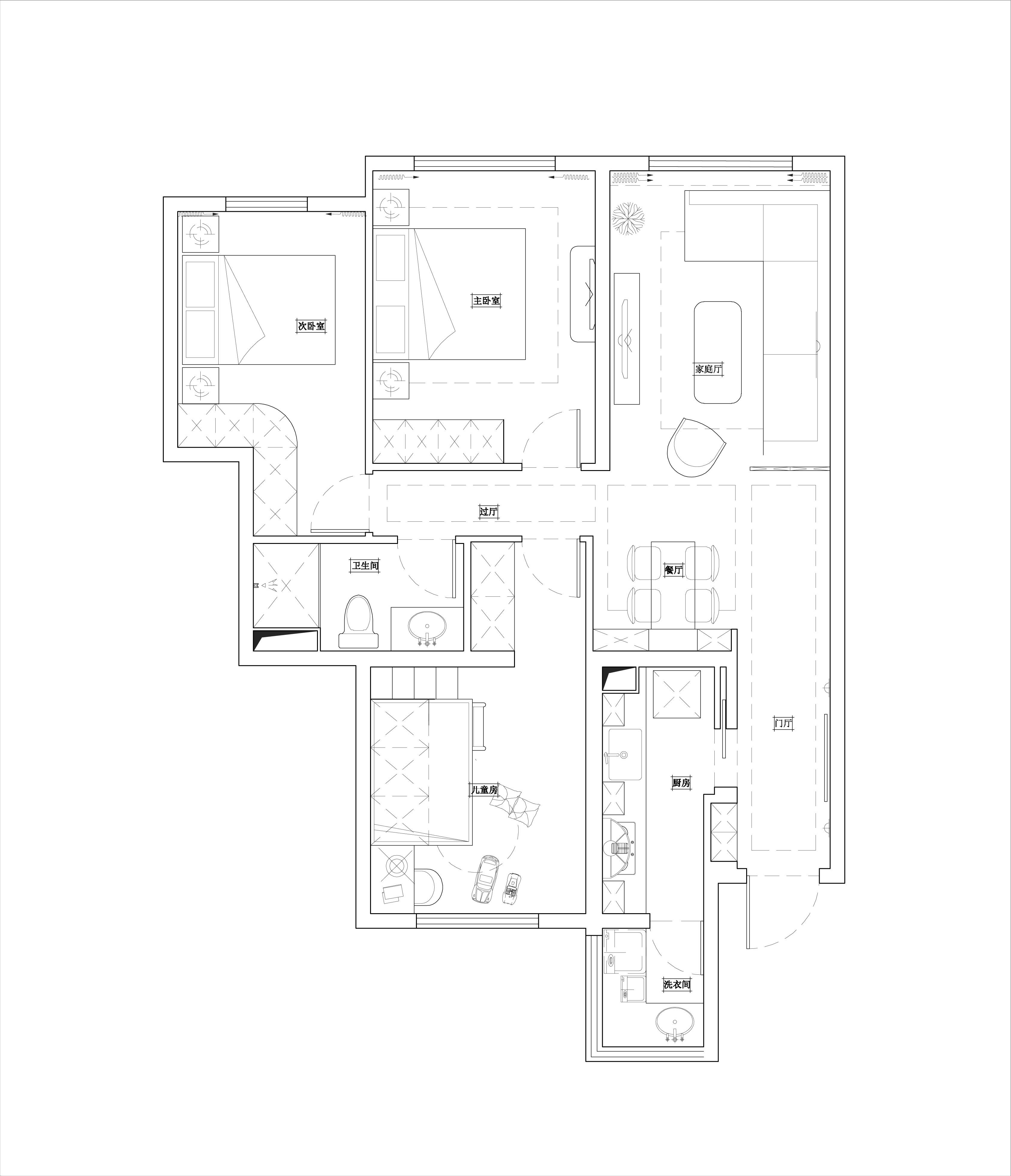 融泽嘉园 北欧风格 79㎡装修设计理念