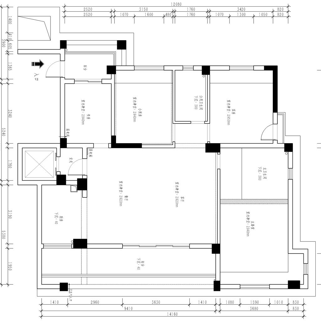 酒城一号美式乡村风格135平米设计装修设计理念