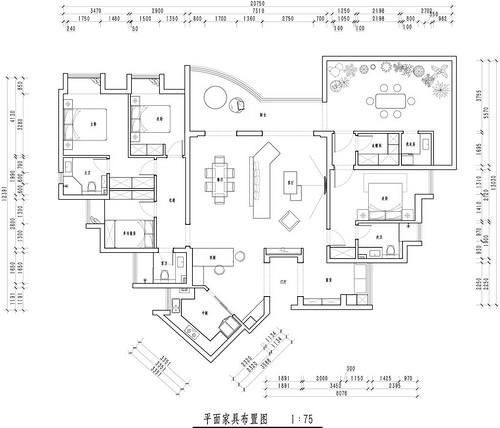 金沙泊岸现代法式混搭224平米装修效果图装修设计理念