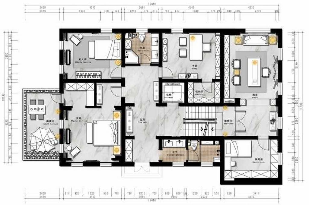 四季香山-古典中式-260平米装修设计理念