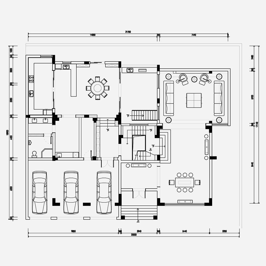 领秀别墅600㎡港式风格装修效果图装修设计理念