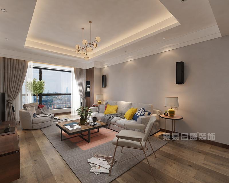 三室兩廳現代簡約風格客廳裝修效果圖