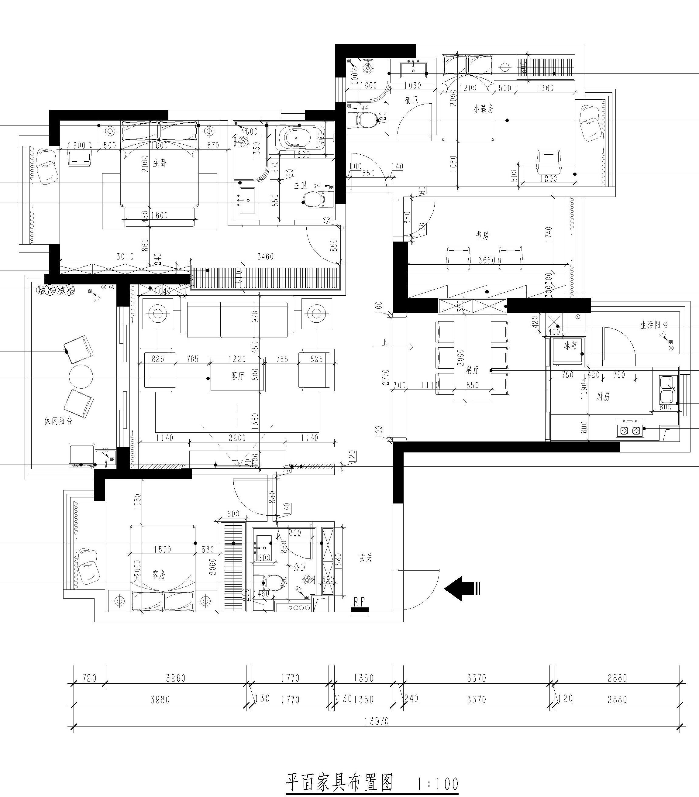 东城天骄御峰-157㎡简欧风格四房二厅 装修效果图装修设计理念