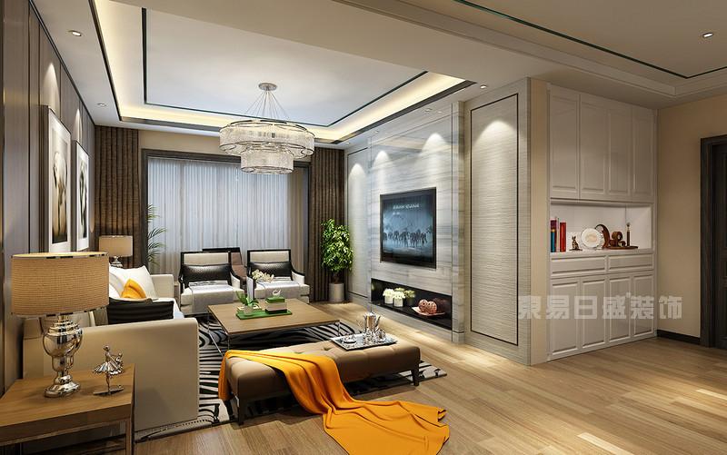 三室两厅现代简约风格客厅装修效果图