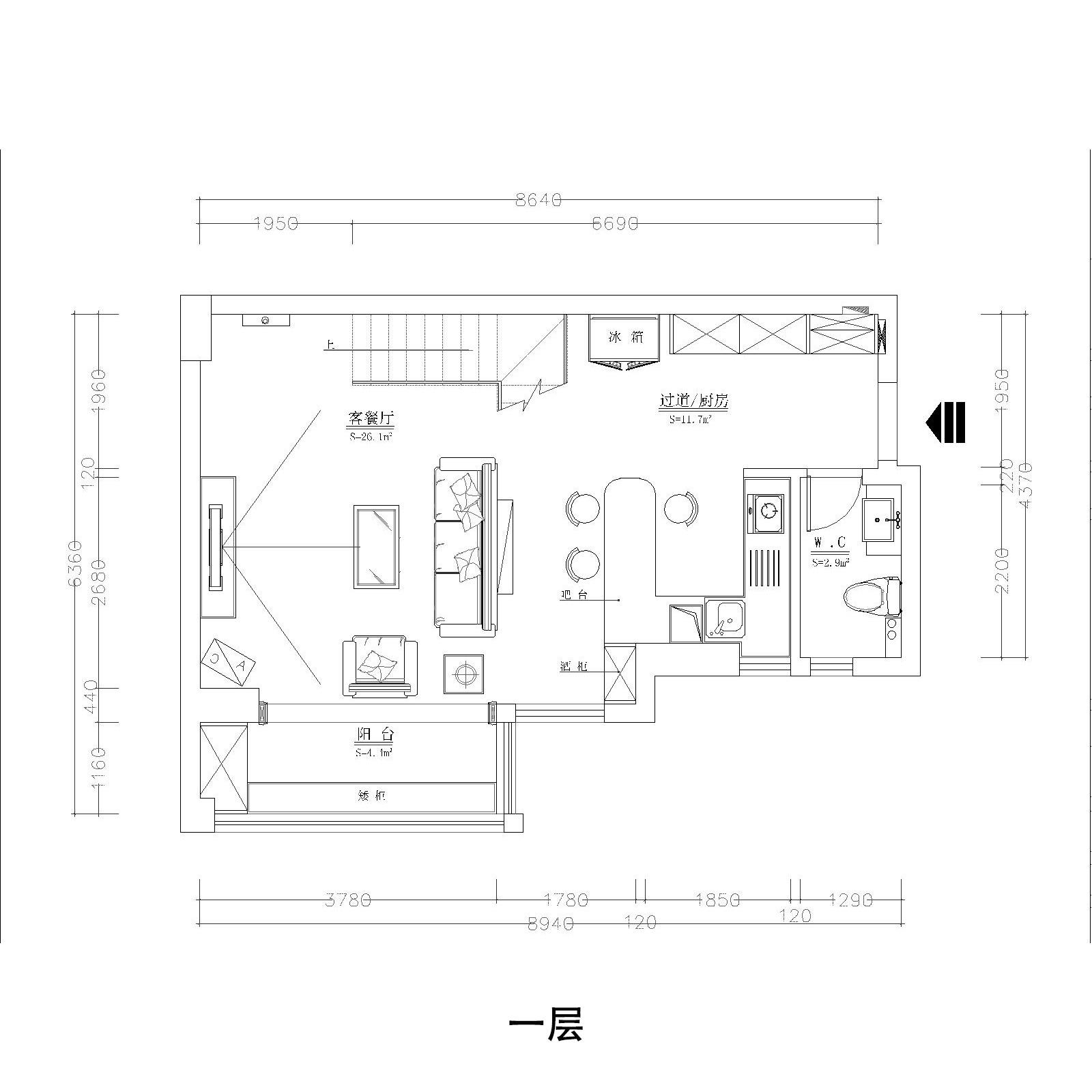 东海湾丽园-欧式风格-100平米装修设计理念