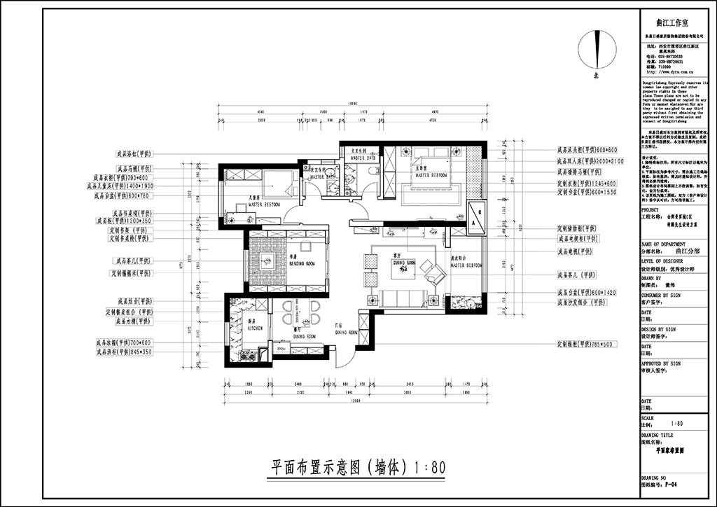金辉世界城 北欧装修效果图 三室二厅 138㎡装修设计理念