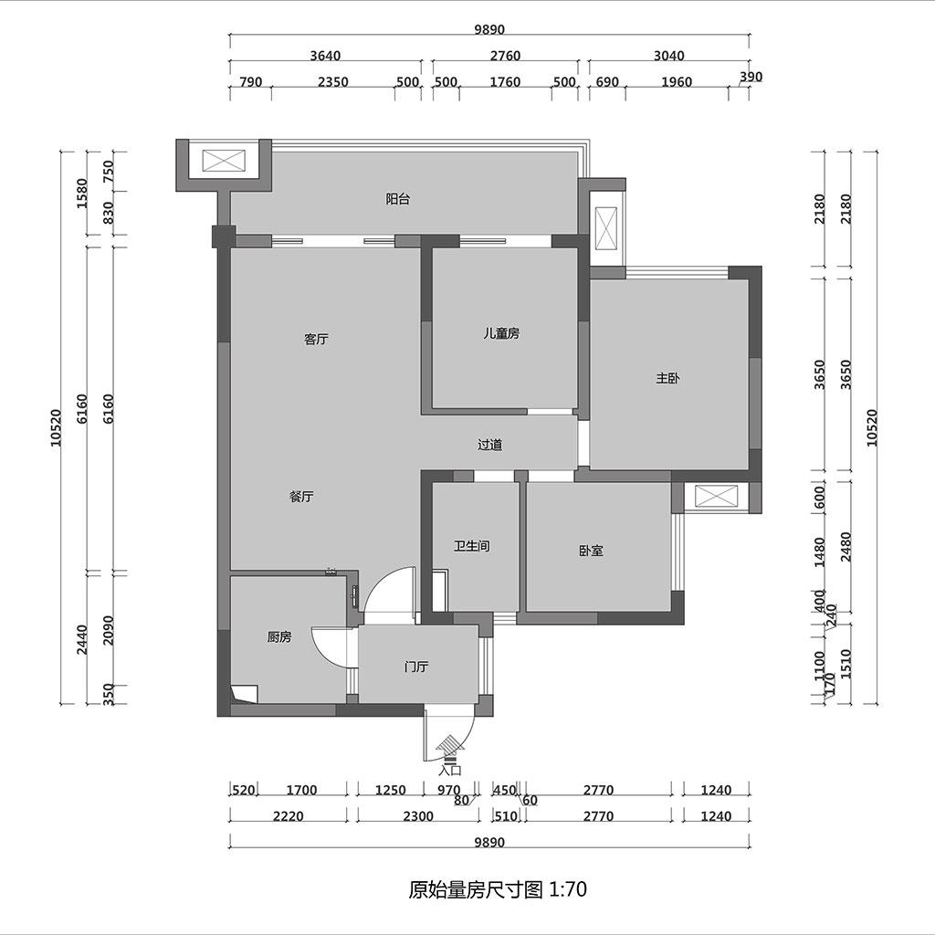 凯德世纪名邸93㎡三居室现代风格装修设计理念