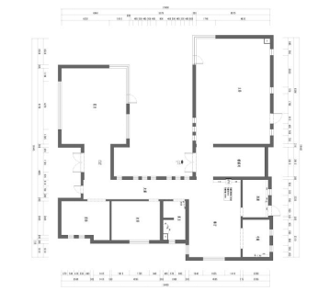 文安县-280平米-新中式装修设计理念