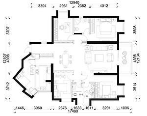 世纪江尚-新中式-187平米三居室
