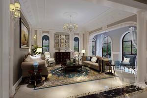 150㎡现代美式三居室,电视背景墙实在是太好看了!