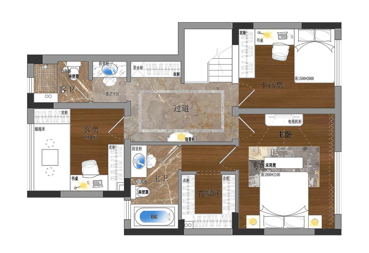 龙湖春江郦城141平上叠现代简约风格装修设计理念