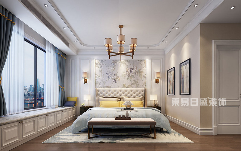 美式风格主卧室装修效果图_东易日盛装饰