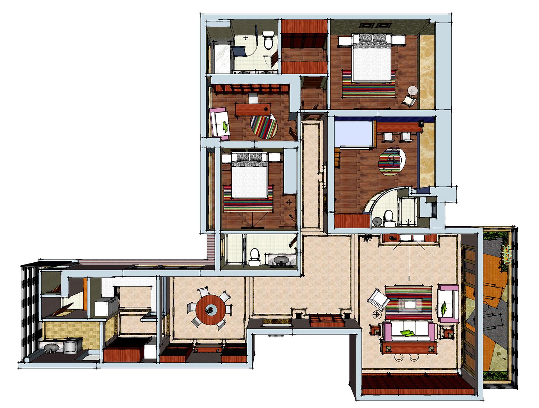 珑御府220平米-现代简约装修设计理念