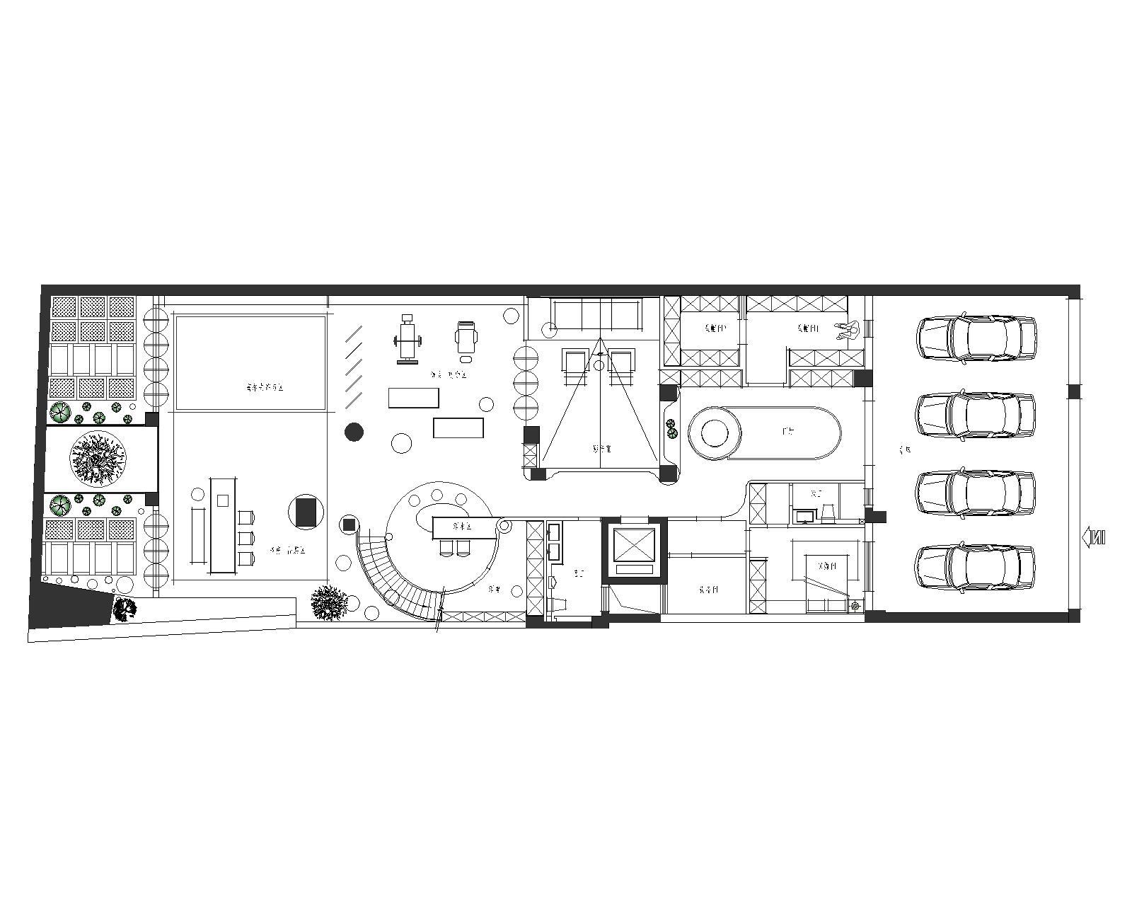 雍景湾600平米别墅-现代轻奢风格装修案例装修设计理念