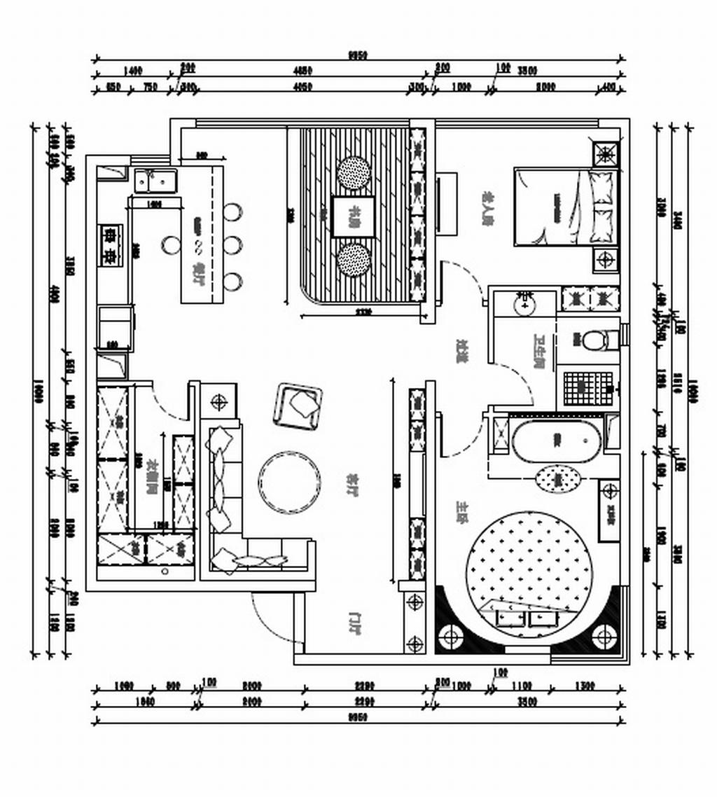 新新小镇-现代简约-200平米装修设计理念