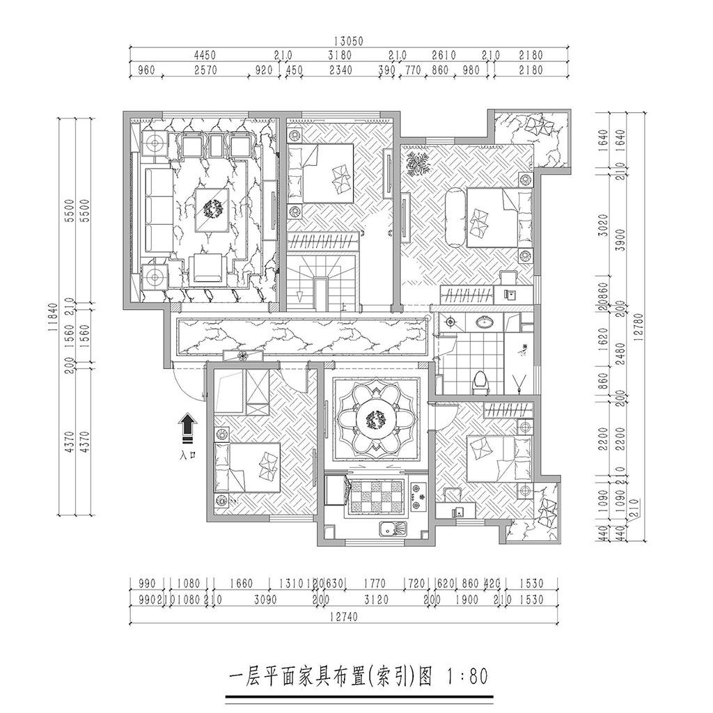 大苑海淀名著200平跃层混搭效果图装修设计理念