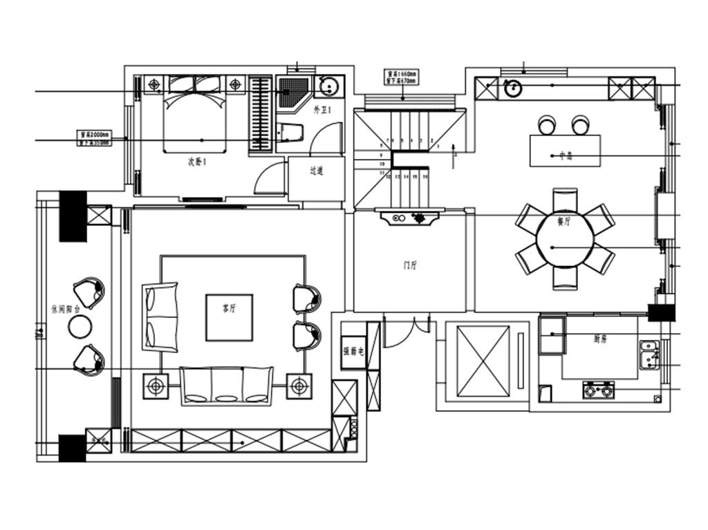 大公馆260平现代风格装修设计效果图装修设计理念