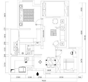 百瑞景新房-混搭风格-91平米户型