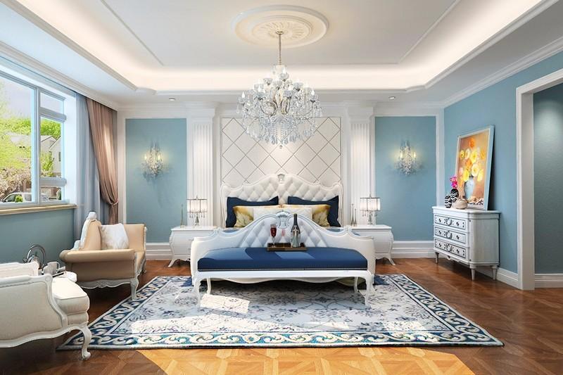 高端别墅装修设计,卧室床摆放的注意事项