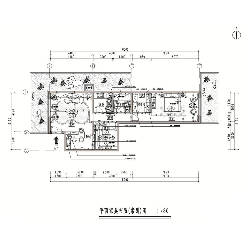 华龙美钰100㎡大平层样板房简美风格效果图装修设计理念