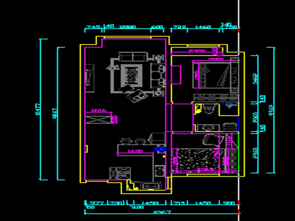 金地悦峰88平简美风格效果图装修设计理念