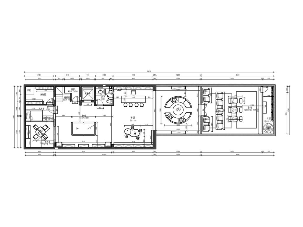 西山艺境-美式风格-760㎡装修设计理念