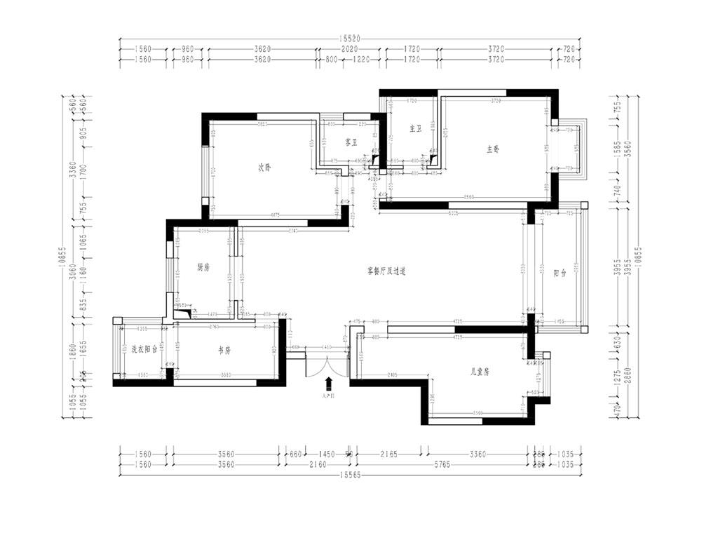 就掌灯 新中式装修效果图 四室两厅 148平米装修设计理念