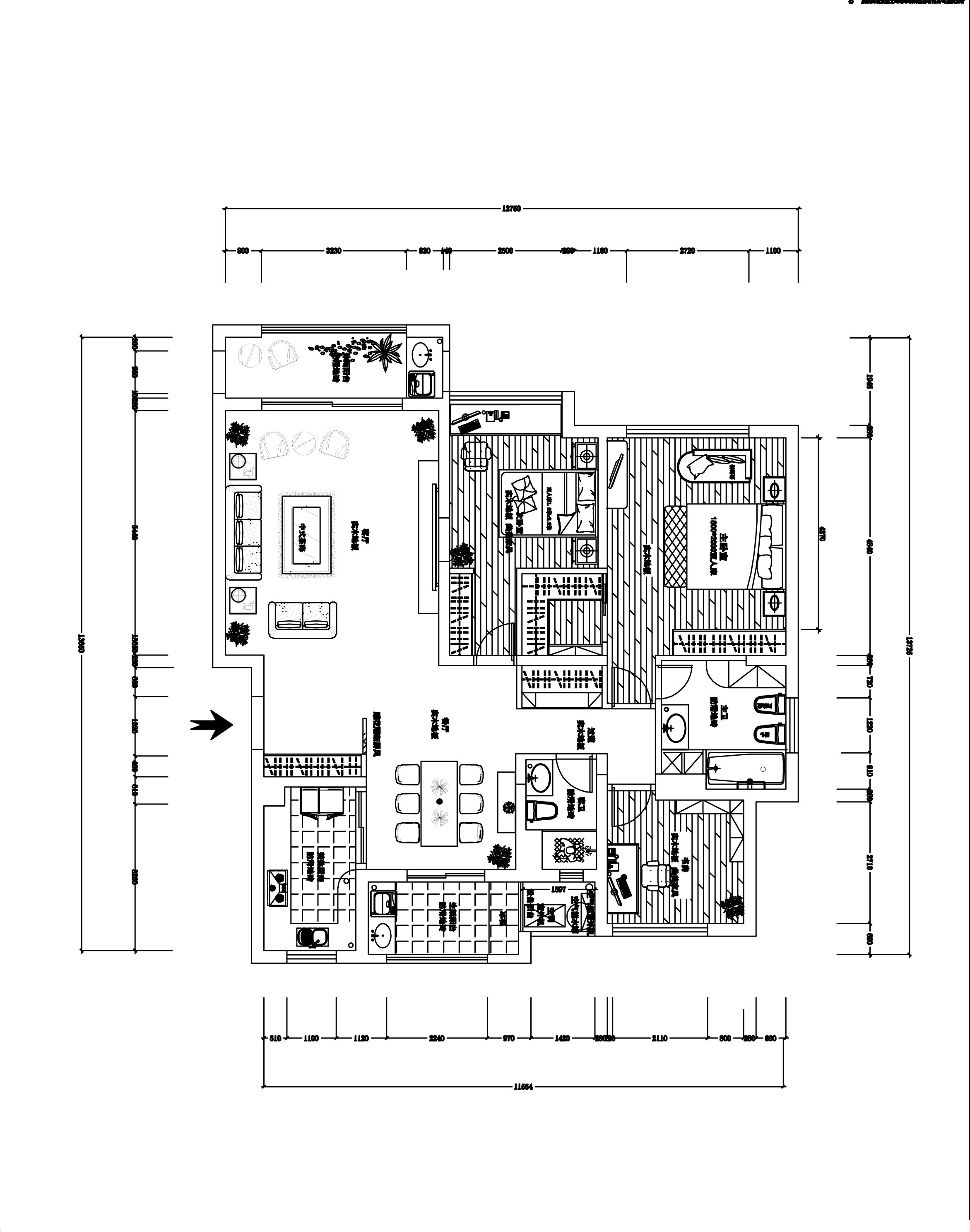 雍城世家古典中式177平米装修设计理念
