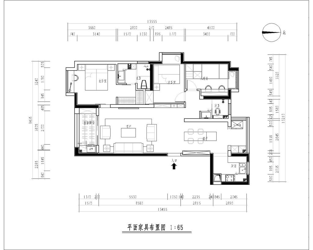 中建大公馆140平米极简风格装修效果图装修设计理念