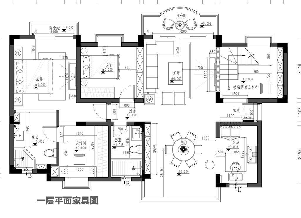 樟木头帝豪花园装修案例-230㎡现代简约复式装修效果图装修设计理念