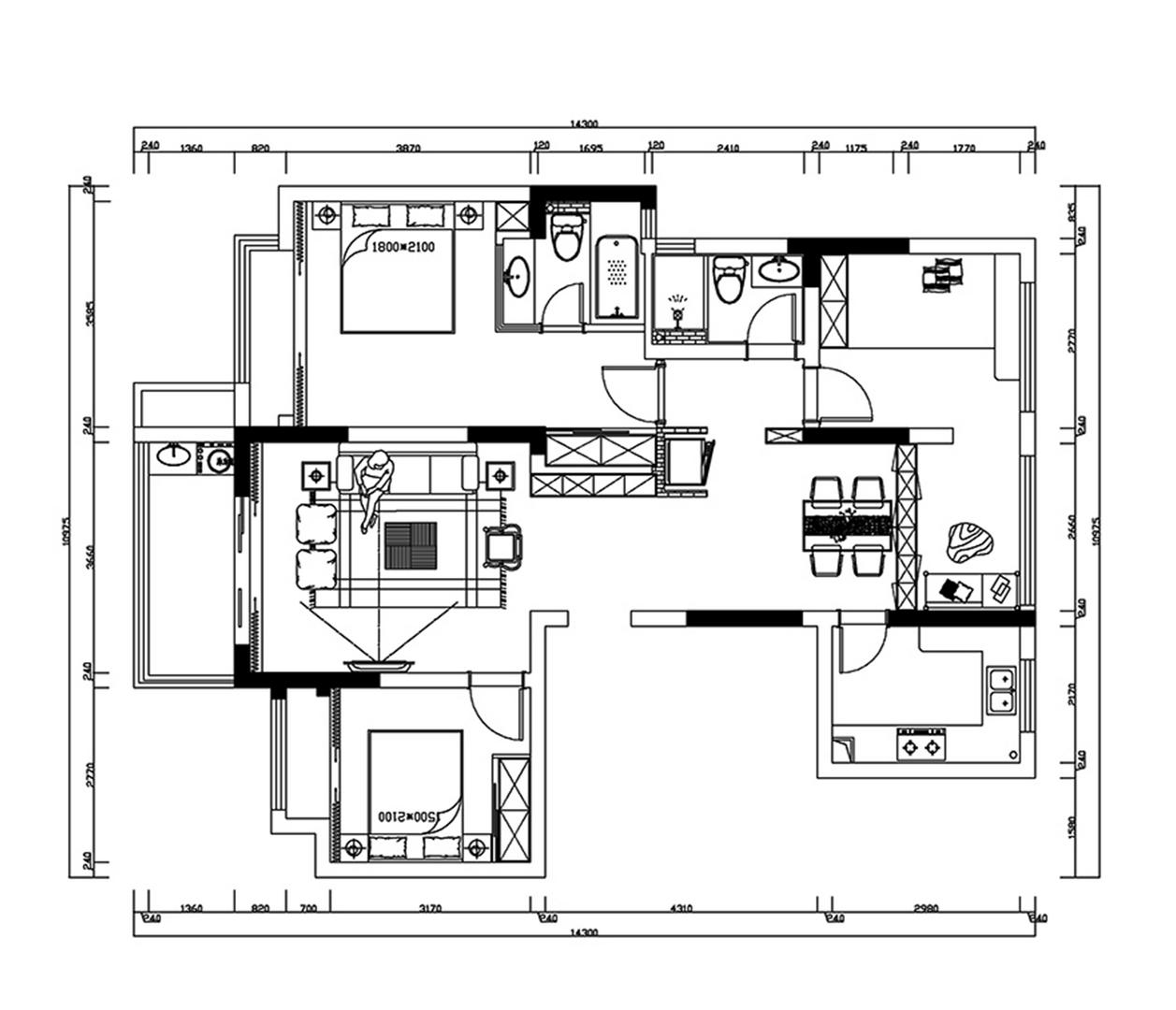 花园城-123平米装修-现代风格设计案例分享装修设计理念