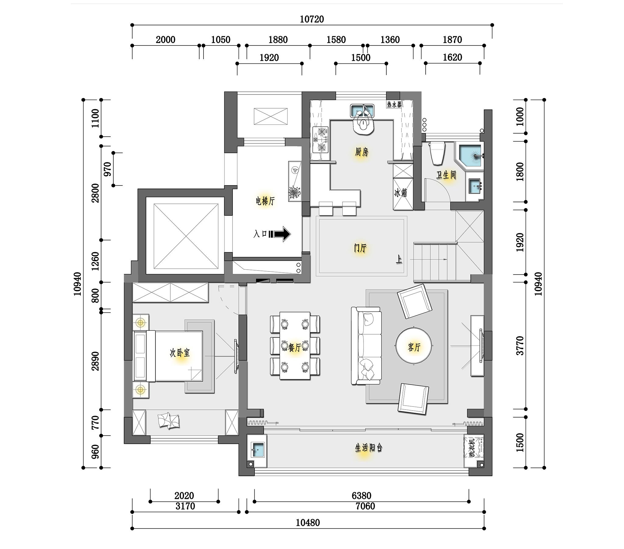 狮山原著现代美式143m²装修设计理念