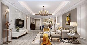 广州富力爱丁堡国际公寓现代美式189㎡装修户型分析,三口之家的温馨改造房