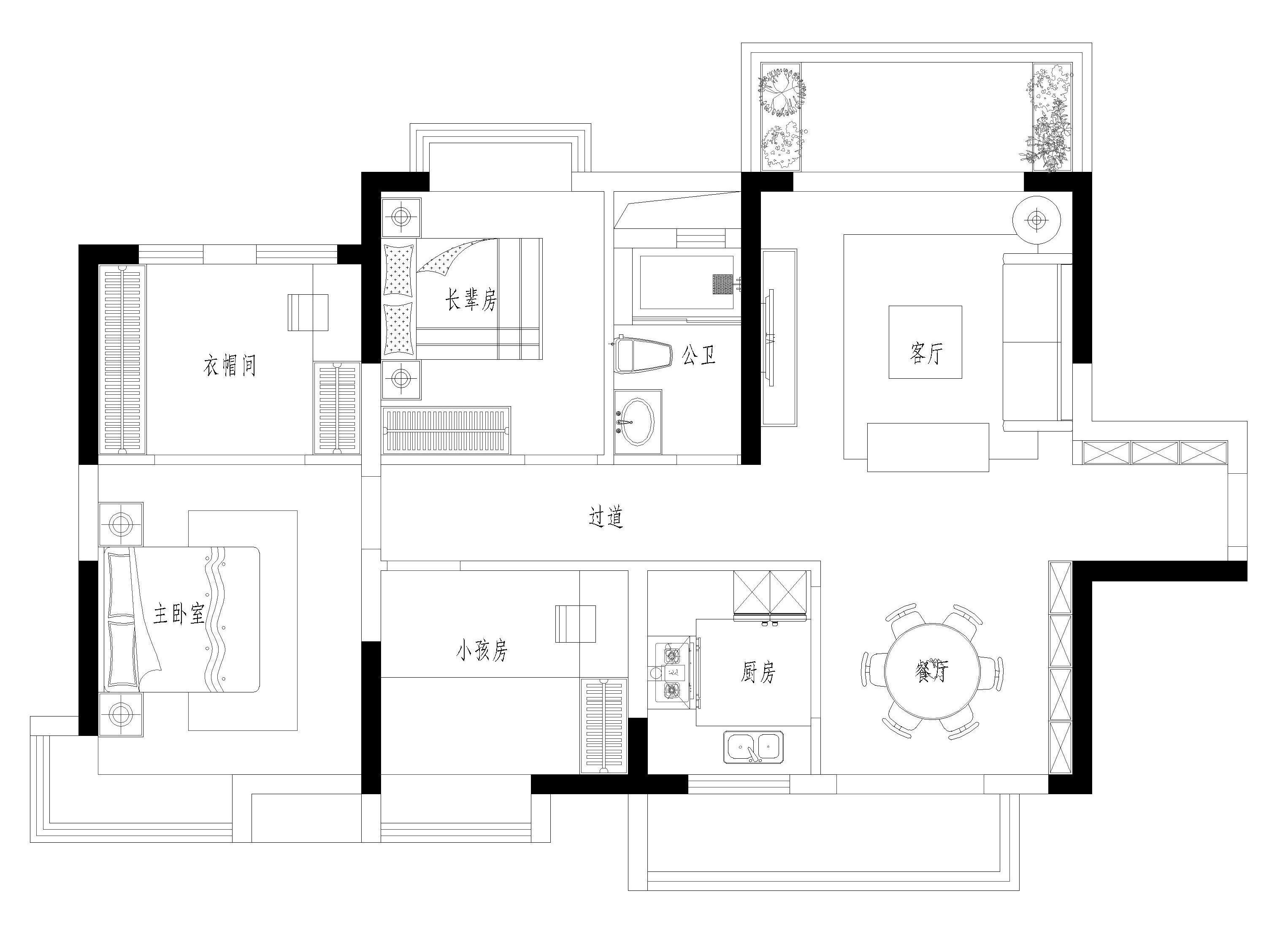 碧桂园茶山首府装修案例-120㎡现代简约三房二厅装修效果图装修设计理念