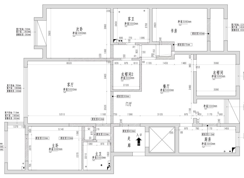 国信嘉园中式166平米装修效果图装修设计理念