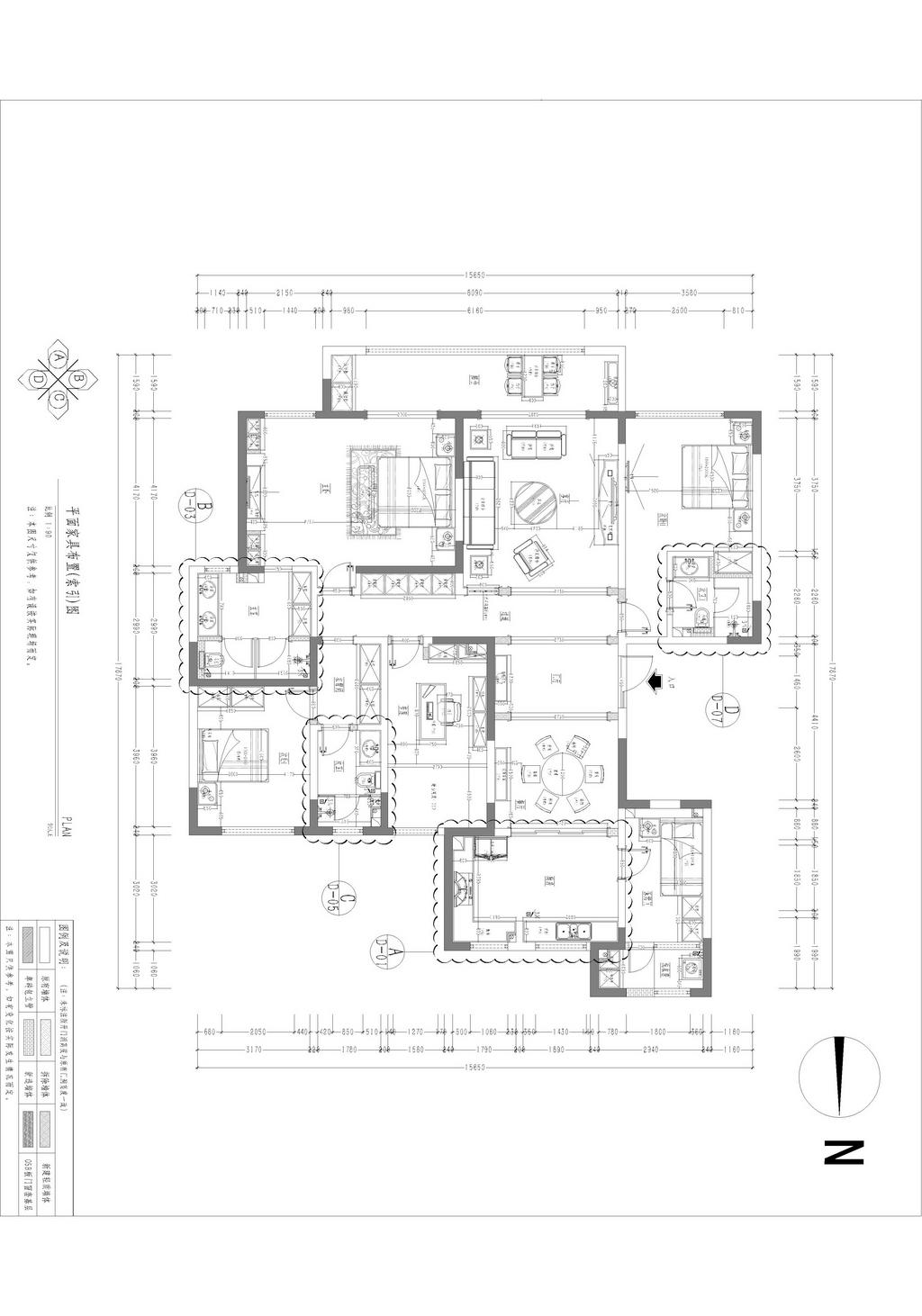 丹轩梓园  简欧风格装修效果图 三室两厅 160平米装修设计理念