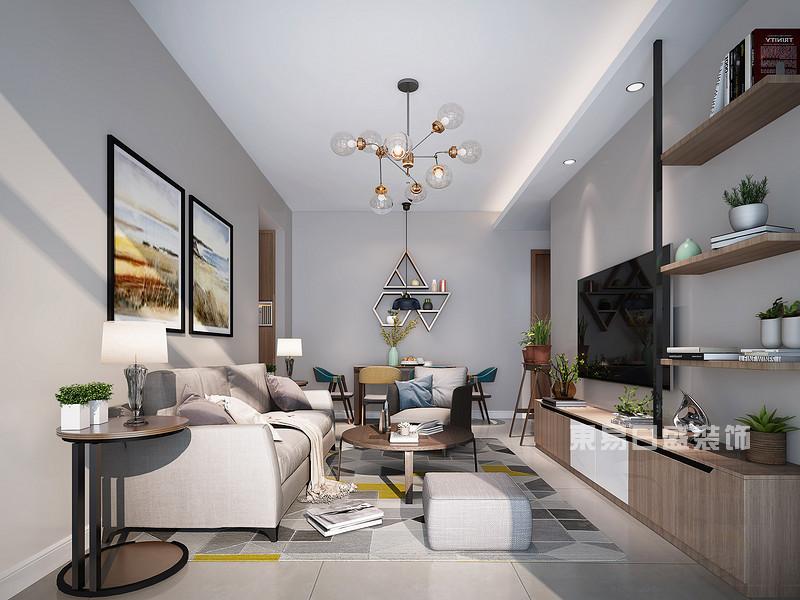 北欧风格客厅装修效果图_东易日盛设计