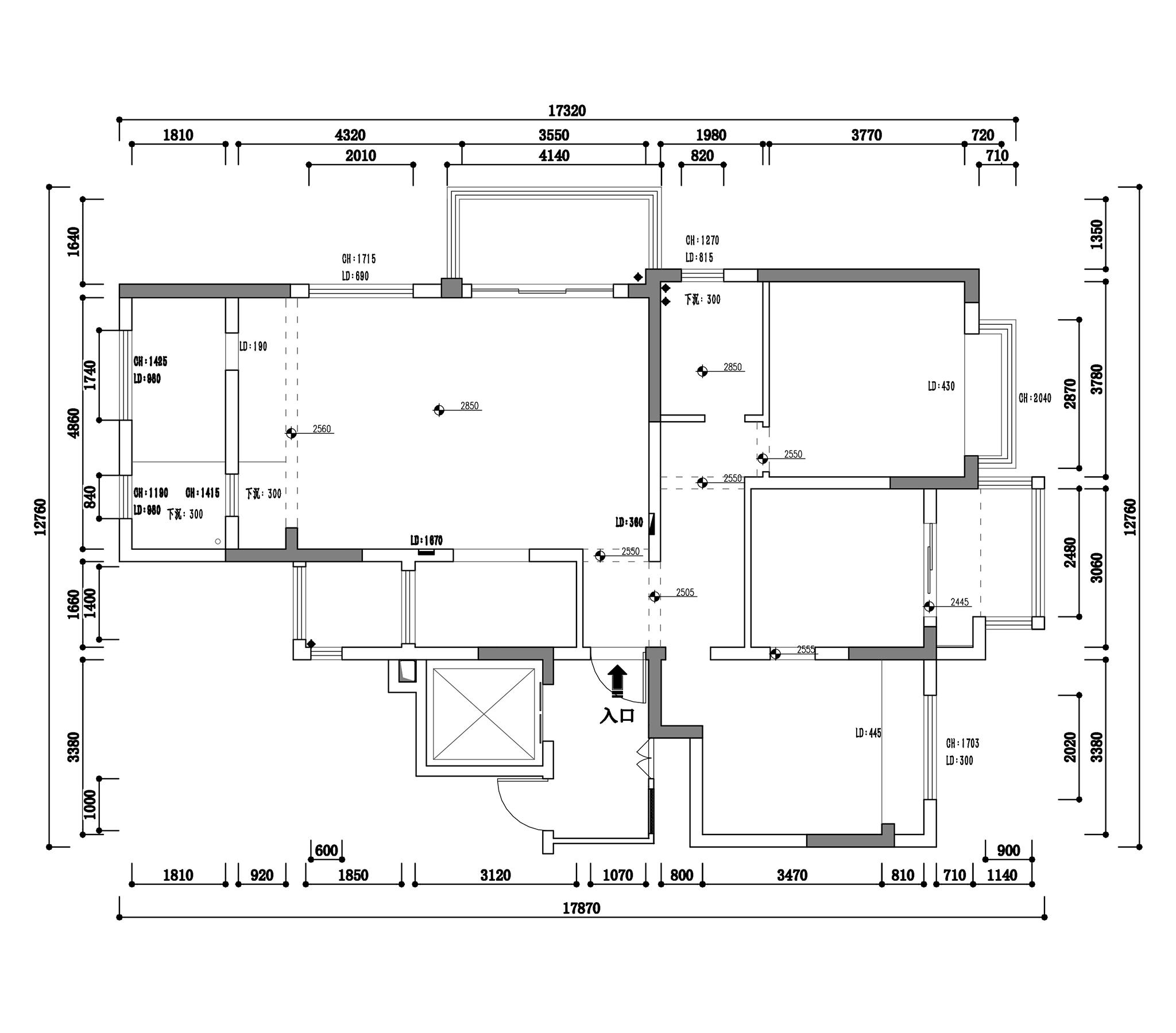 狮山原著现代中式143m²装修设计理念