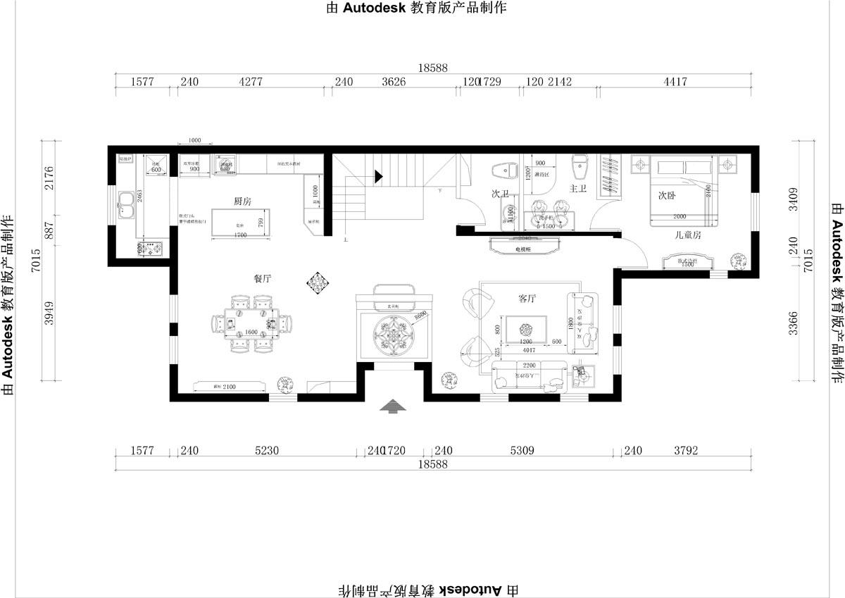 香江别墅 欧式古典 300平米装修设计理念