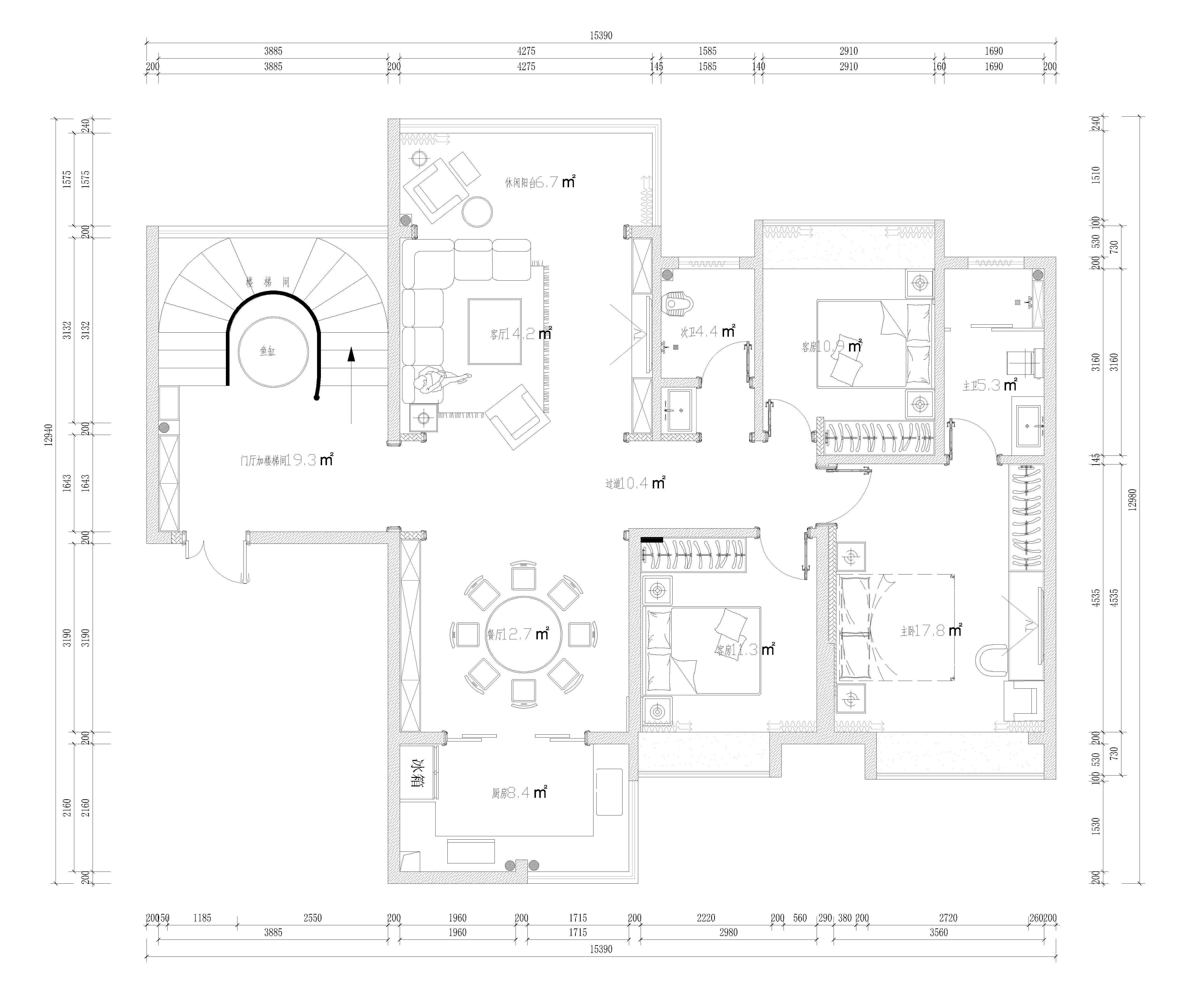 桂东印象-现代简约风格-240㎡装修设计理念