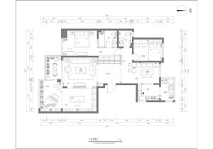 外滩一号 现代风格 147平方 户型图设计分析点评介绍