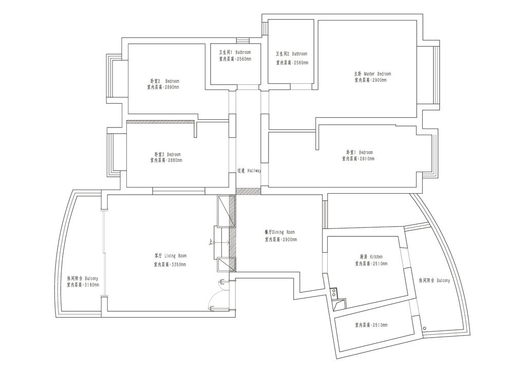 蔚蓝海岸-147平四室两厅-现代简约风格-装修效果图装修设计理念