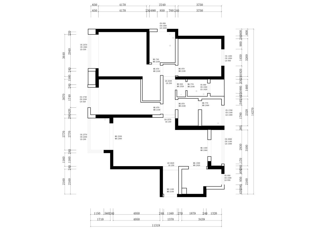 金台府邸港式风格163㎡四居室装修设计理念