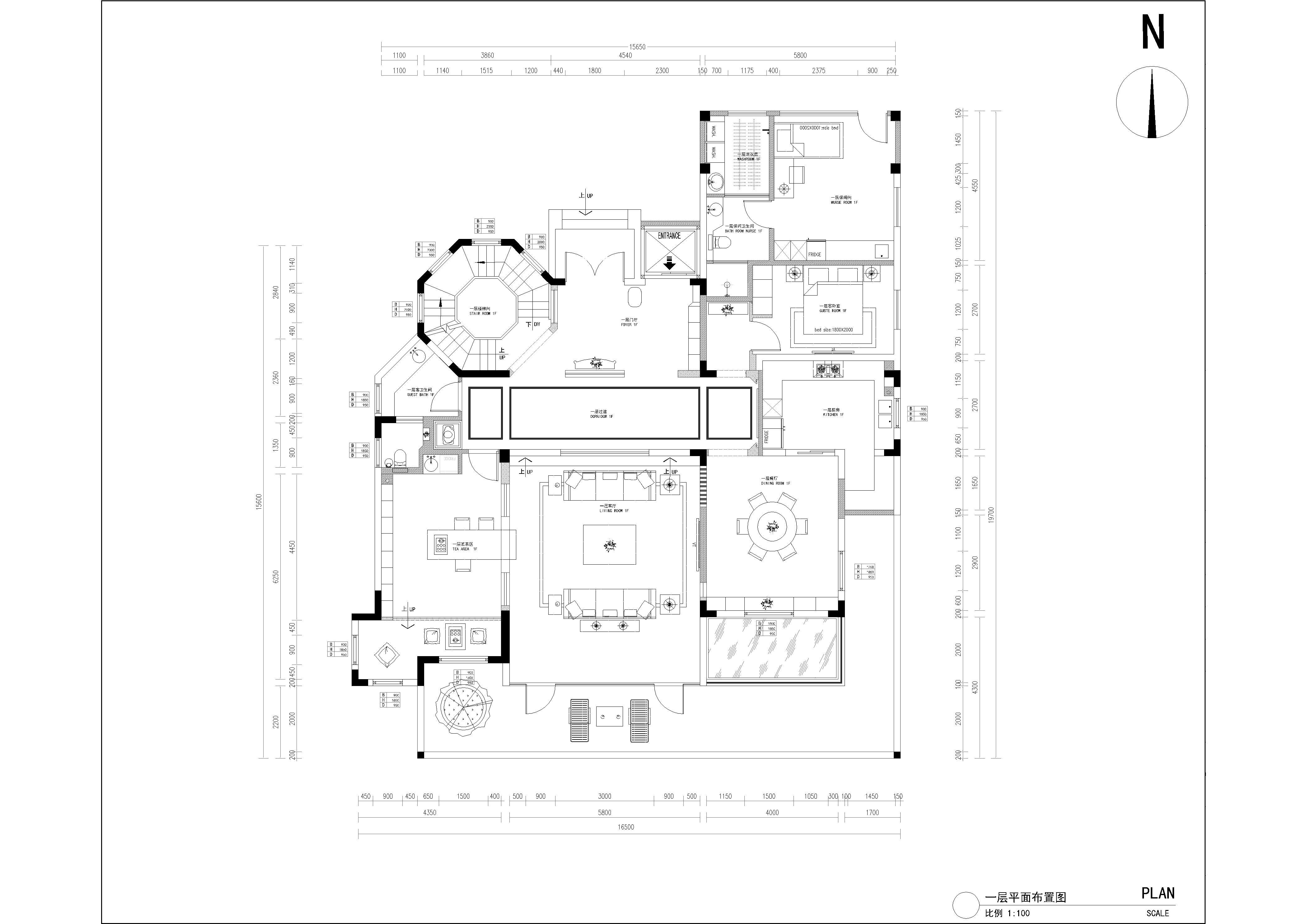 大华公园世家新中式450㎡装修设计理念