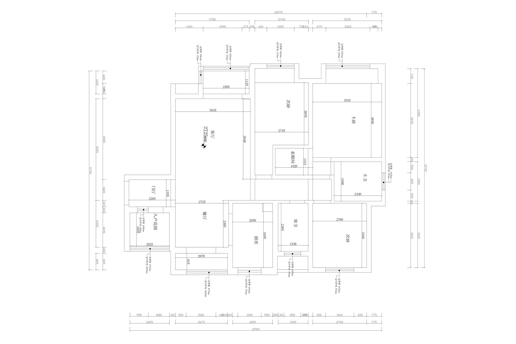 金台府邸新中式135㎡三室两厅装修设计理念