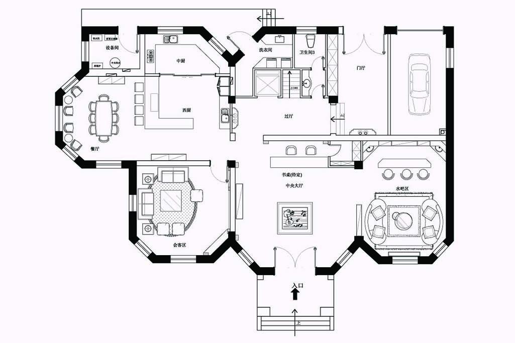 八达岭山庄-美式乡村-400㎡装修设计理念