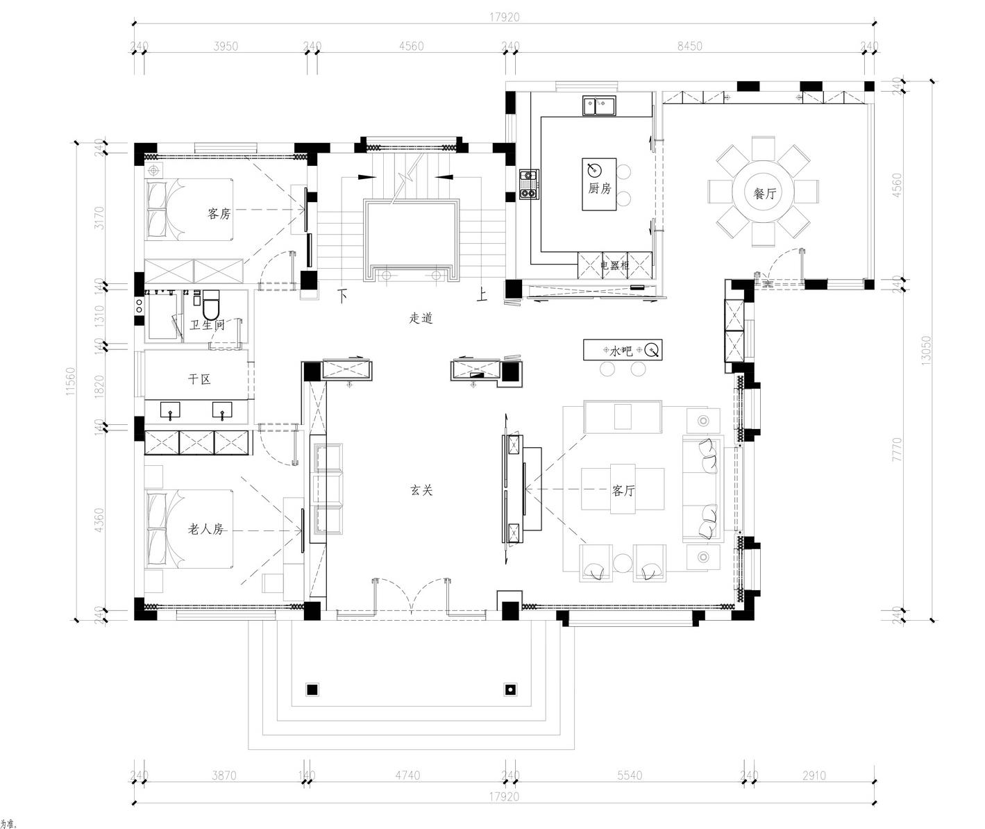 万城华府-法式-360平米装修设计理念