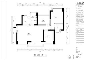 中熙郡南山 简欧风格 88.5平米户型图设计分析点评介绍